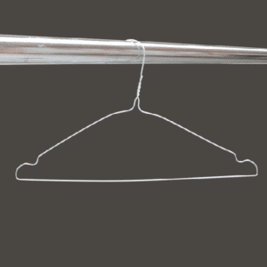 Silver notched wire hangers W2SN