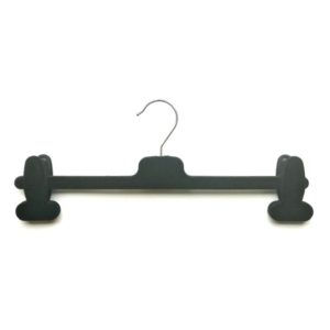 Velvet Flocked Trouser Hanger with Clips 34cm CLX34F