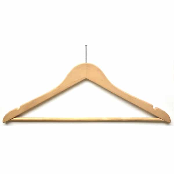 Wooden Anti-Theft Clothes Hangers 45cm WH no security ring